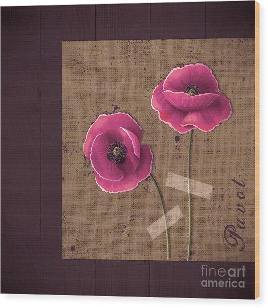 Pavot - S02c11b Wood Print