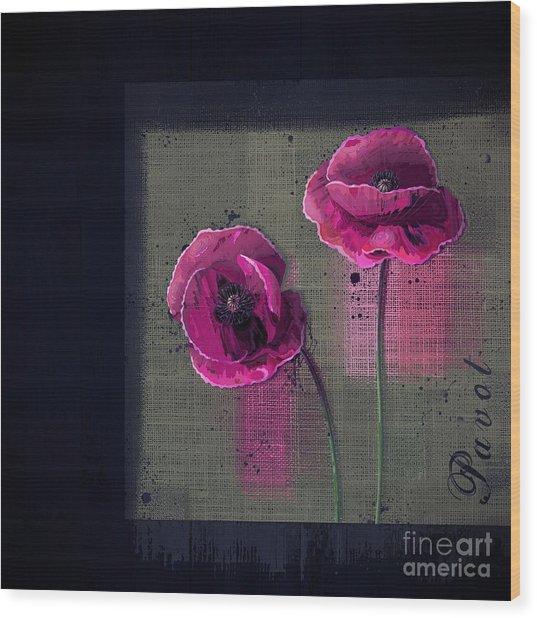 Pavot - S1c12j033036161bl1 Wood Print