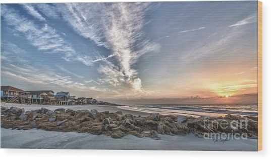 Pawleys Island Beach Sunrise Wood Print