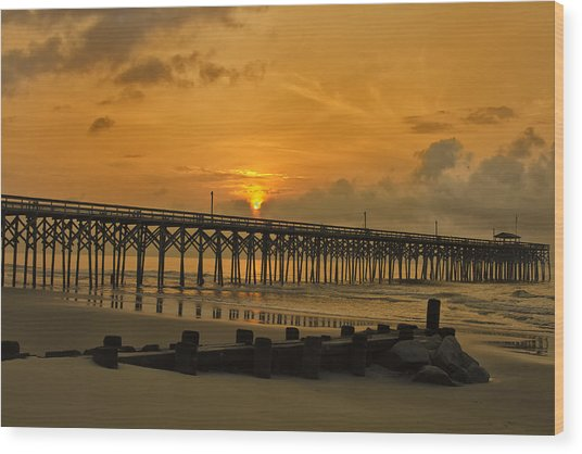 Pawleys Island Sunrise Wood Print