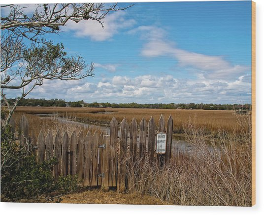 Pawley's Picket Fence Wood Print