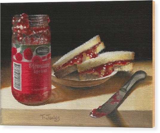 Pb And J 2 Wood Print by Timothy Jones