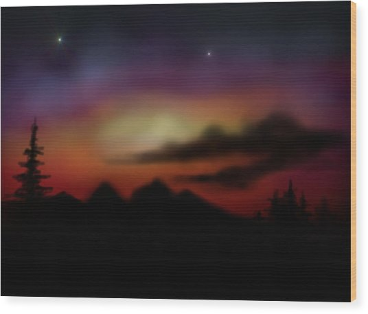 Peace And Calming Wood Print by Ricky Haug