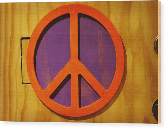 Peace Decal Wood Print