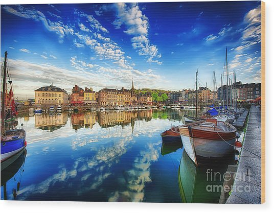 Peace Honfleur Wood Print