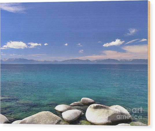 Peace - Lake Tahoe Wood Print