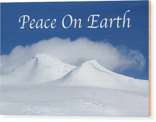 Peace On Earth Card Wood Print