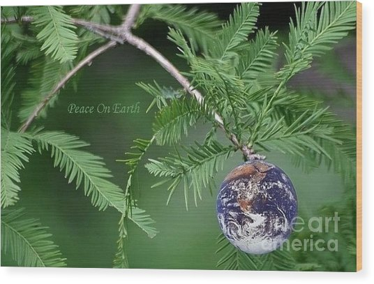 Peace On Earth Wood Print