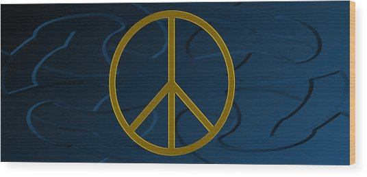 Peace Sign Wood Print by Daryl Macintyre