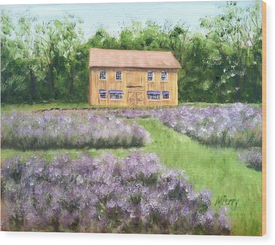 Peace Valley Lavender Farm Wood Print