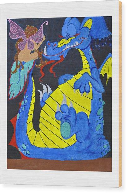 Peacefool Wood Print by HannaH Fussell