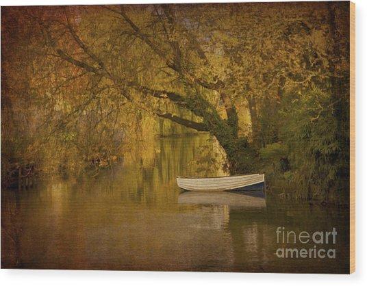 Peaceful Backwater Wood Print