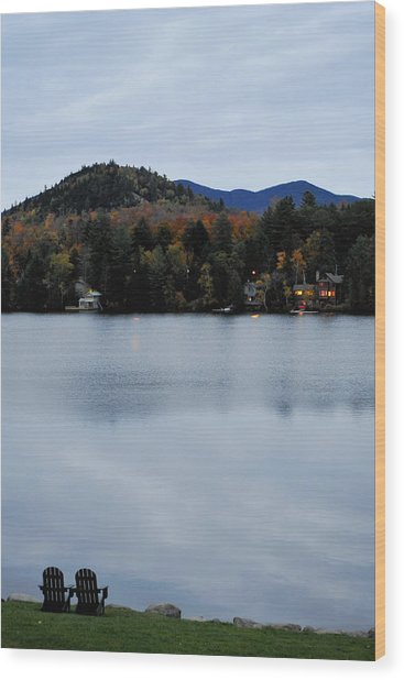 Peaceful Evening At The Lake Wood Print