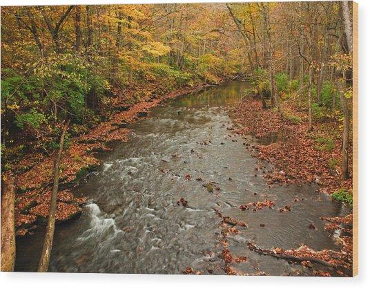 Peaceful Fall Wood Print
