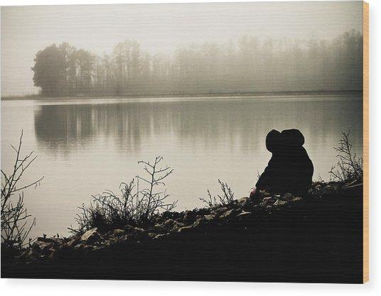 Peaceful Fog Wood Print