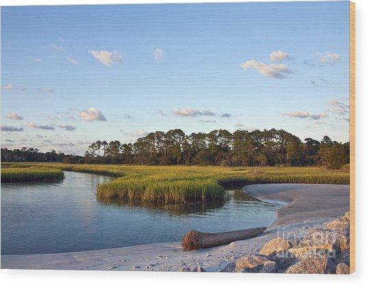 Peaceful Marsh Wood Print