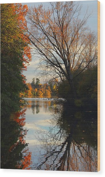 Peaceful October Afternoon Wood Print