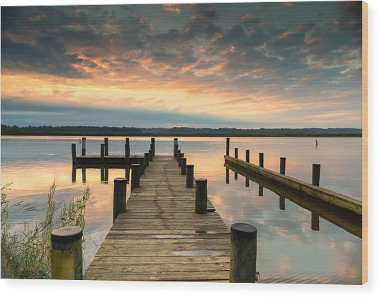 Peaceful Patuxent Wood Print