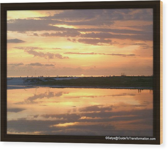 Peaceful Reflections Wood Print by Satya Winkelman