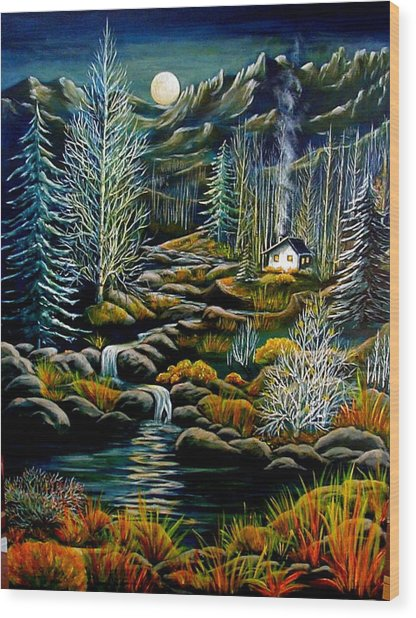Peaceful Seclusion Wood Print by Diana Dearen