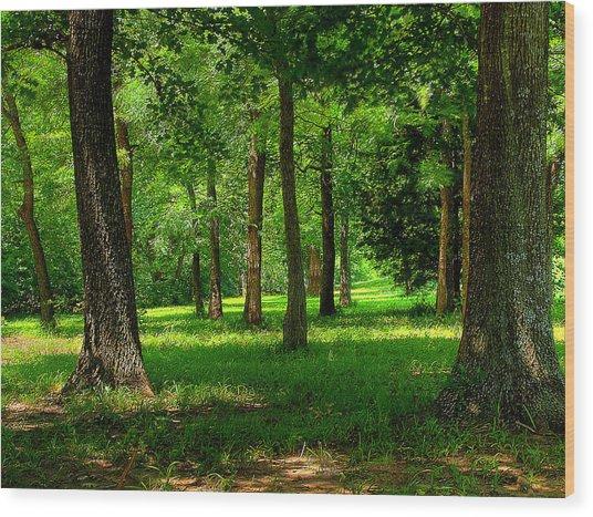 Peaceful Wood Print