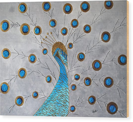 Peacock And Its Beauty Wood Print