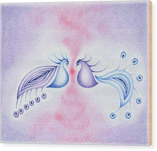 Peacock Dance Wood Print