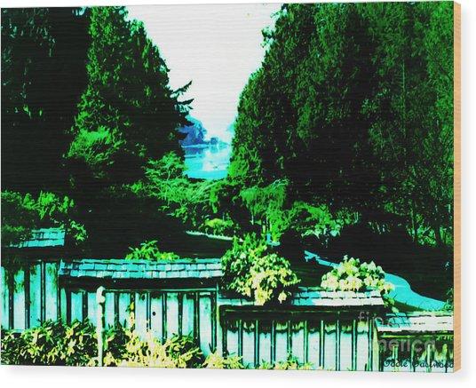Peaking At Gorge Waterway Victoria British Columbia Wood Print