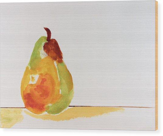 Pear In Autumn Wood Print