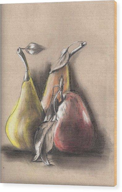 Pear2 Wood Print