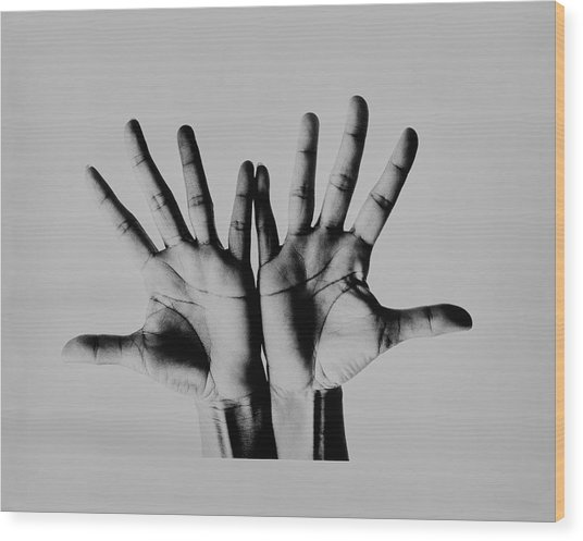 Pearl Bailey's Hands Wood Print