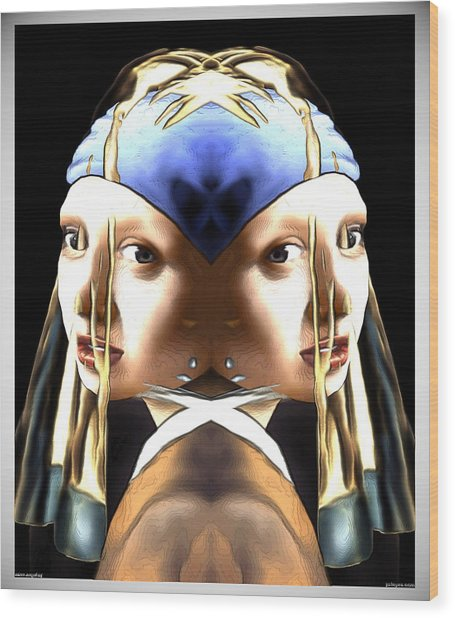 Pearl Earring Pearl Wood Print