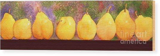 Pears Wood Print by Gwen Nichols