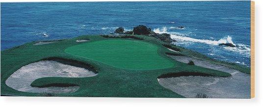 Pebble Beach Golf Course 8th Green Wood Print