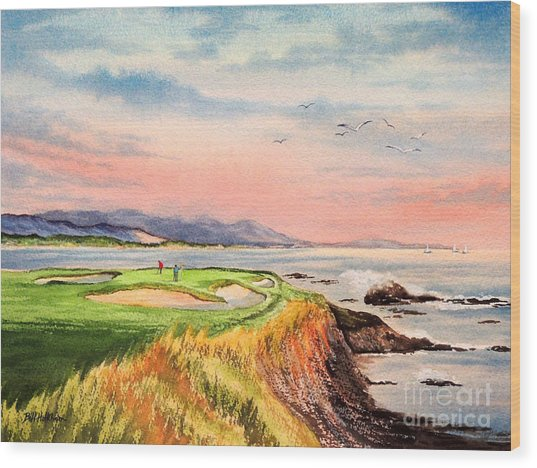 Pebble Beach Golf Course Hole 7 Wood Print