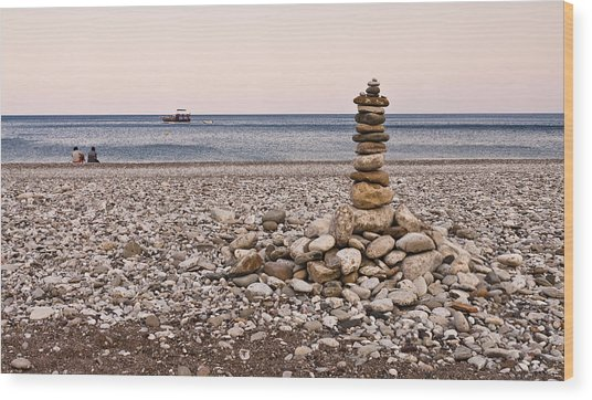Pebble Tower Wood Print