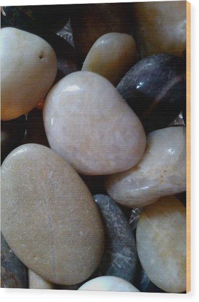 Pebbles Wood Print by Jaime Neo
