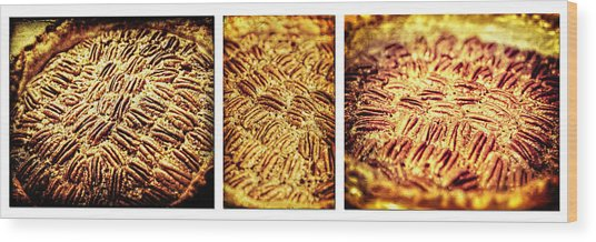 Pecan Pie Nostalgia Triptych By Lincoln Rogers Wood Print