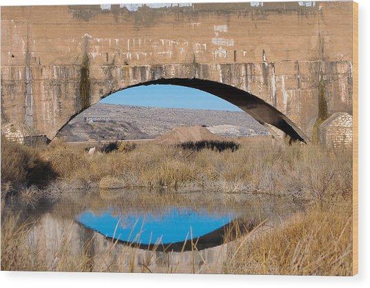 Pecos River Flume Wood Print