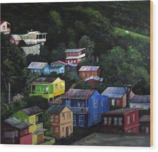 Pedazito De Yauco Cerro Wood Print