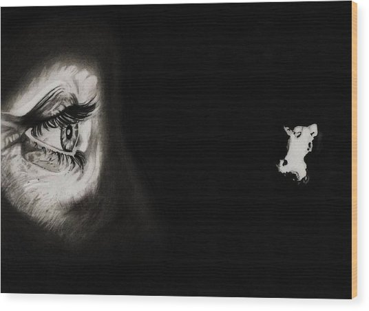 Peeping Tom - Psycho Wood Print