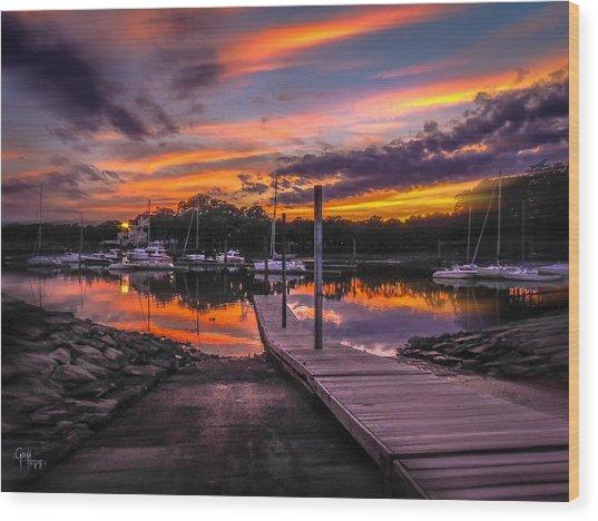 Peering At The Sunset Wood Print