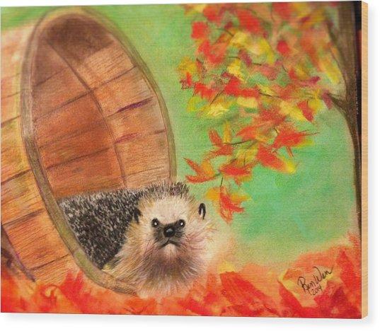Peevish Porcupine Wood Print