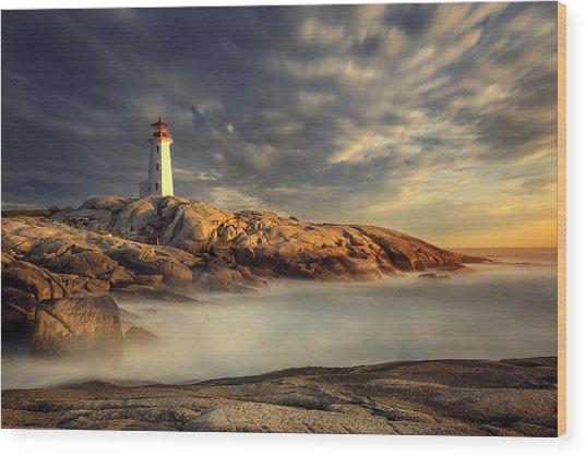 Peggy's Cove Nova Scotia Wood Print by Magda  Bognar
