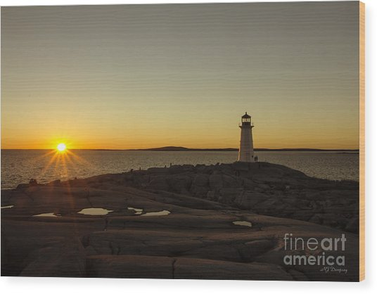 Peggy's Sunset Wood Print