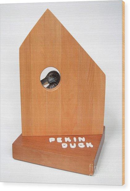 Pekin Duck  #99 Wood Print by Bill Czappa