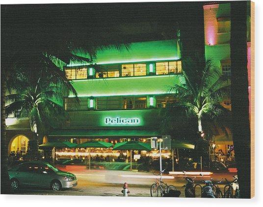 Pelican Hotel Film Image Wood Print