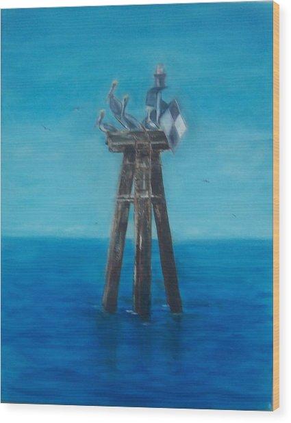 Pelican Landing II Wood Print
