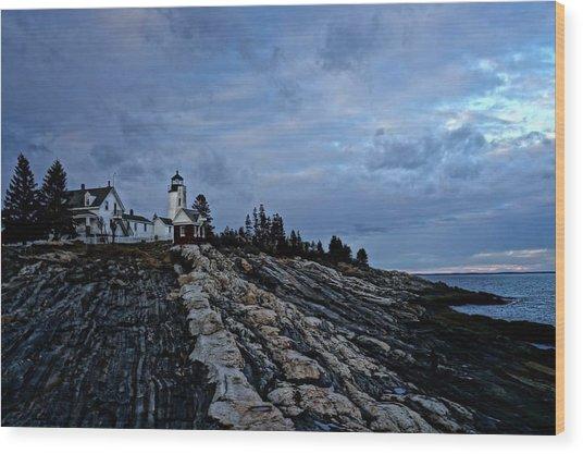 Pemaquid Lighthouse Wood Print by Melissa C