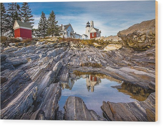 Pemaquid Reflection Wood Print